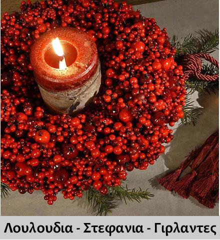 Χριστουγεννιατικη Διακοσμηση με Λουλουδια